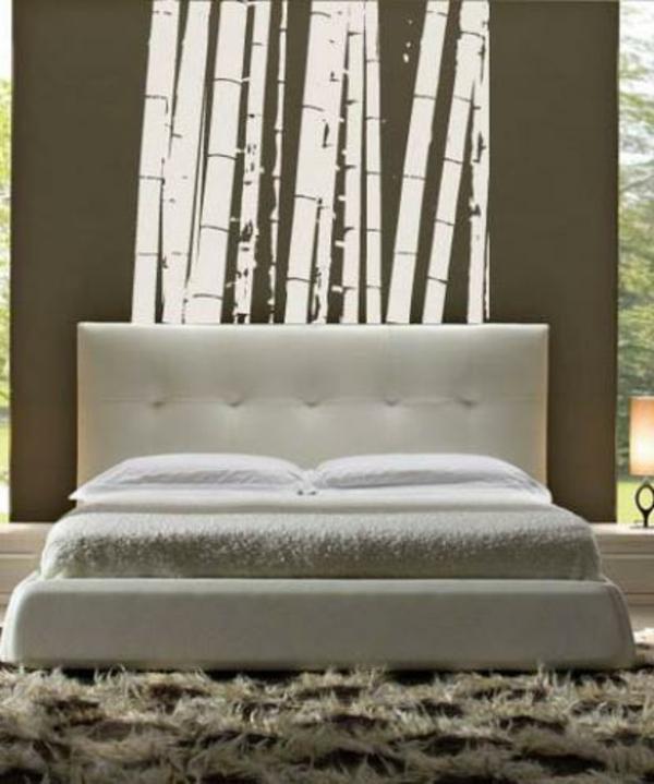 sticker-bambou-dans-une-chambre-à-coucher