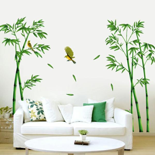 sticker-bambou-dans-une-chambre-blanche