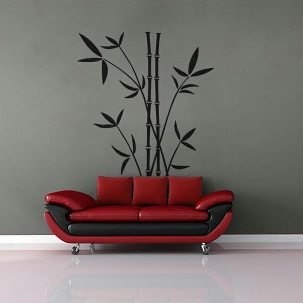 sticker-bambou-divan-en-rouge-et-noir