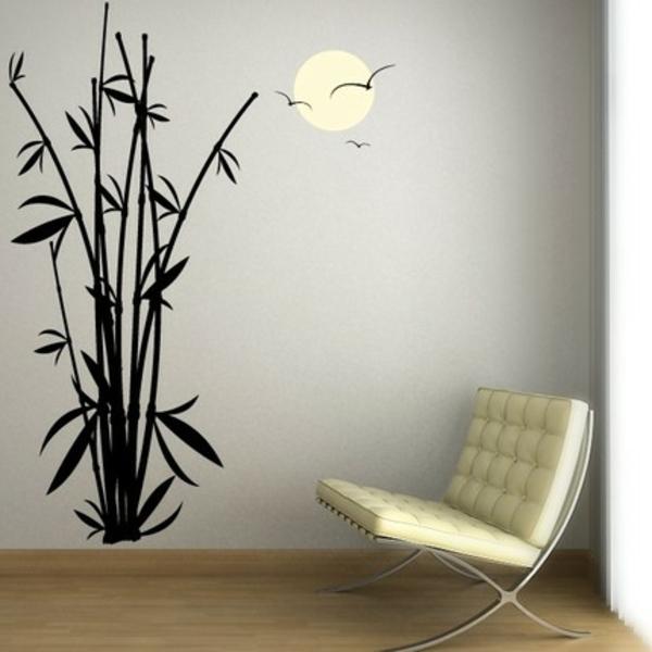 sticker-bambou-et-fauteuil-beige-déco-romantique