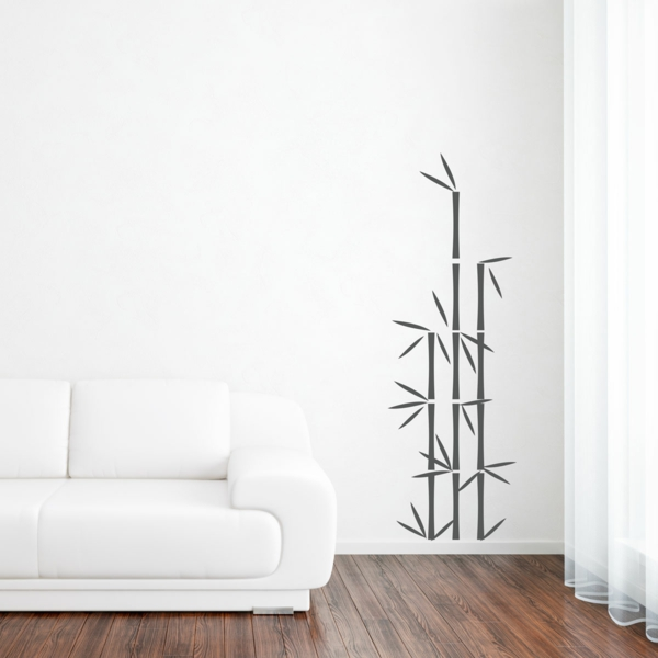 sticker-bambou-noir-déco-murale