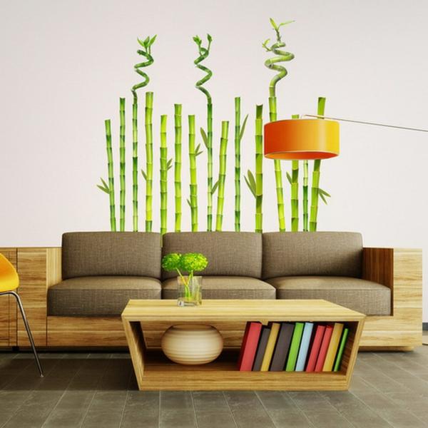 sticker-bambou-salle-de-séjour-magnifique