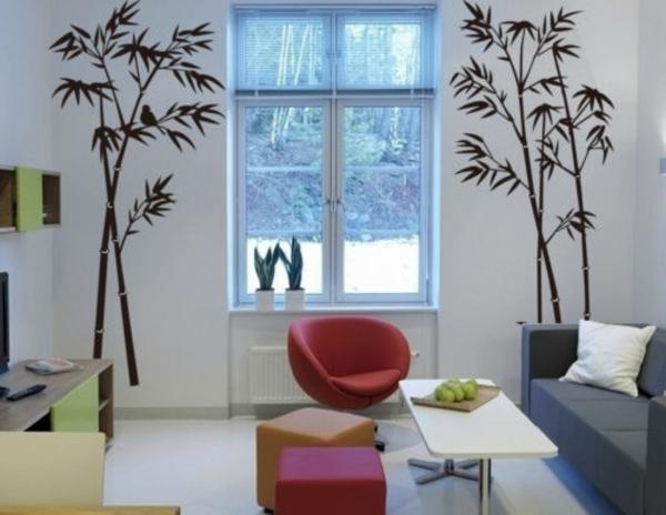 sticker-bambou-salle-de-séjour