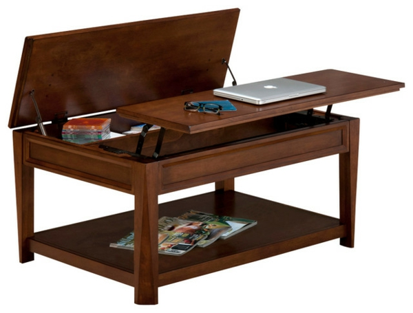 Table basse avec plateau relevable table basse design pas - Table de salon modulable ...