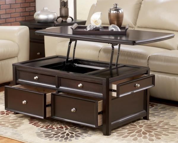 table basse qui se releve avec rallonge. Black Bedroom Furniture Sets. Home Design Ideas
