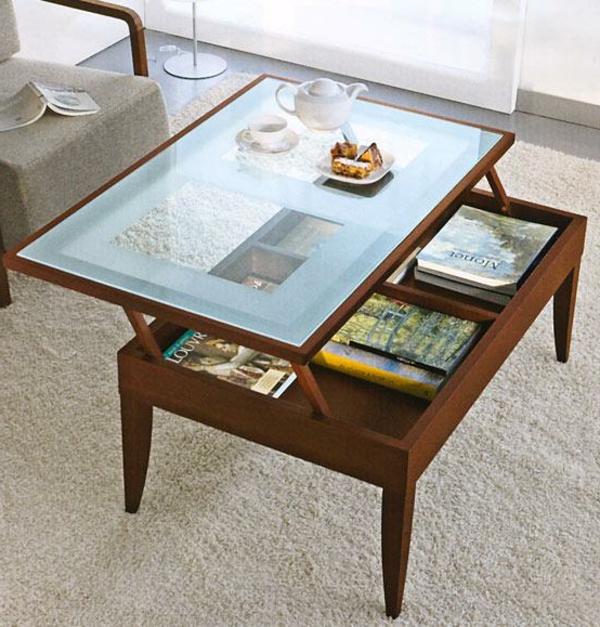Table basse avec plateau qui se rel ve id e inspirante pour la conception de la for Plateau pour table basse