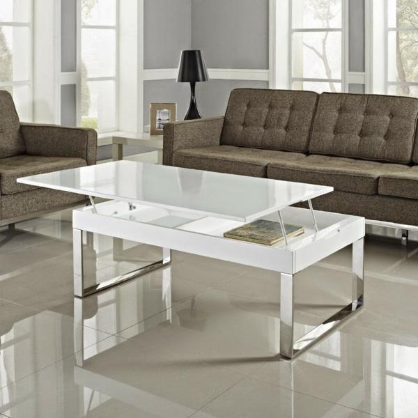 La table basse avec plateau relevable se soigne de vos - Table de salon plateau relevable ...
