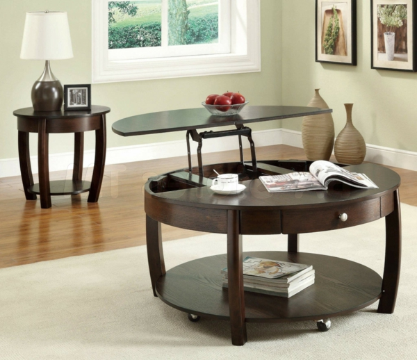 table basse ronde noire laquee 6 table basse avec plateau relevable table ronde en. Black Bedroom Furniture Sets. Home Design Ideas