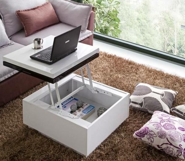 Table basse carr e plateau relevable images - Table basse plateau relevable ...