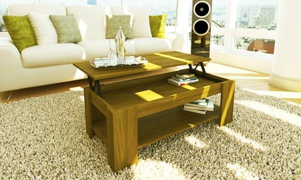 table-basse-avec-plateau-relevable-un-tapis-à-long-poil-intérieur-lumineux