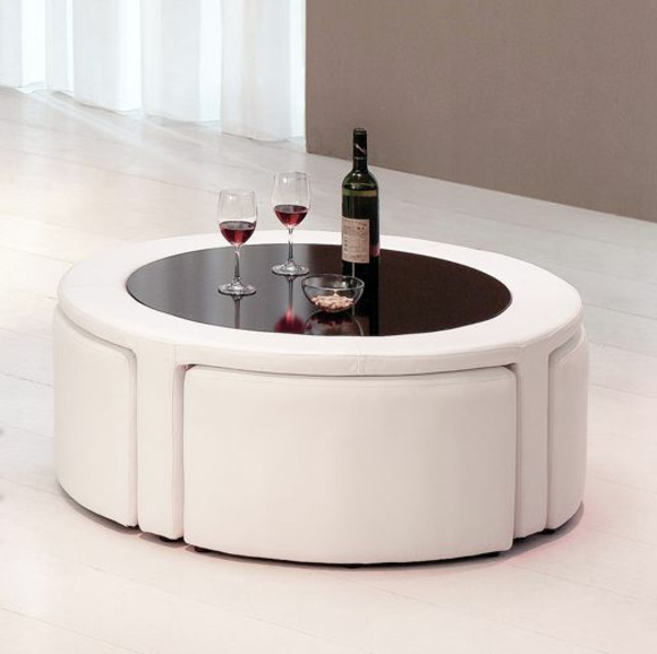 La table basse avec pouf pour un style de vie moderne - Table basse avec pouf but ...