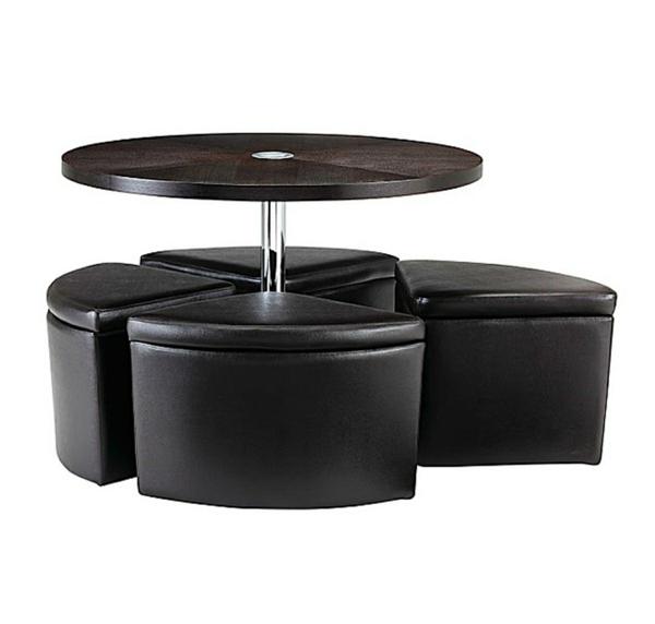 table-basse-avec-pouf-quatre-poufs-noirs-en-cuir