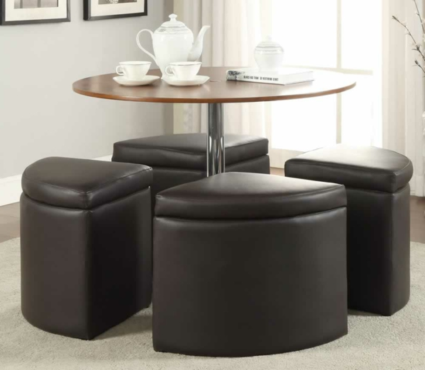 La table basse avec pouf pour un style de vie moderne - Chaise pliante bois conforama ...