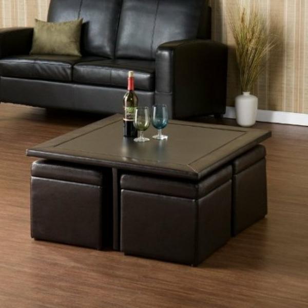 table-basse-avec-pouf-table-rectangulaire-et-poufs-en-cuir-marron
