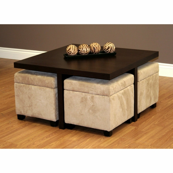 Table Basse En Verre Avec Pouf Dimension