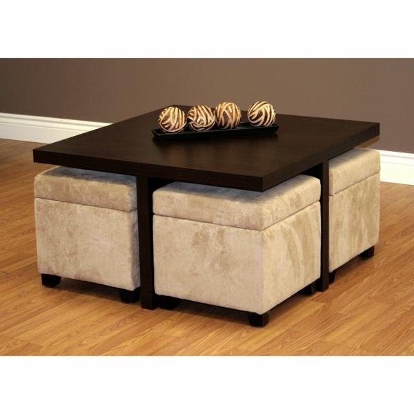 La Table Basse Avec Pouf Pour Un Style De Vie Moderne