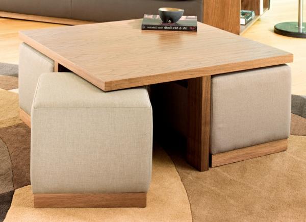 La table basse avec pouf pour un style de vie moderne - Archzine.fr