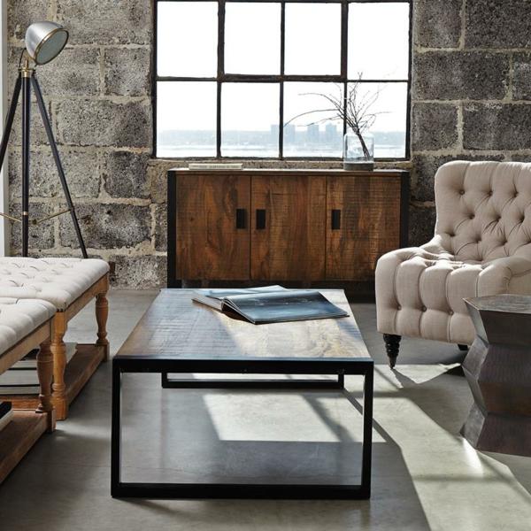 table-basse-industrielle-bois-et-métal