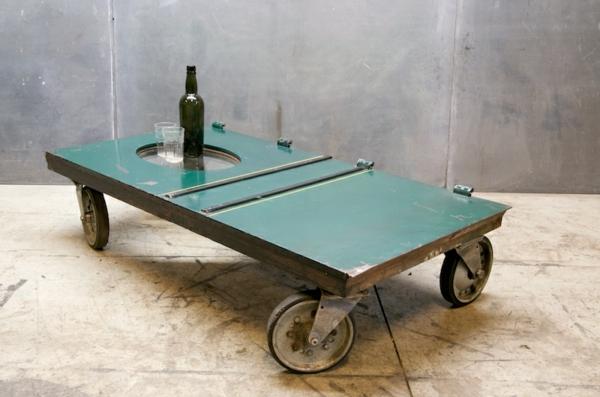 table-basse-industrielle-design-vert