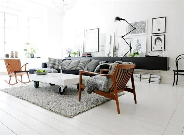 table-basse-industrielle-une-table-blanche-et-un-intérieur-contemporain