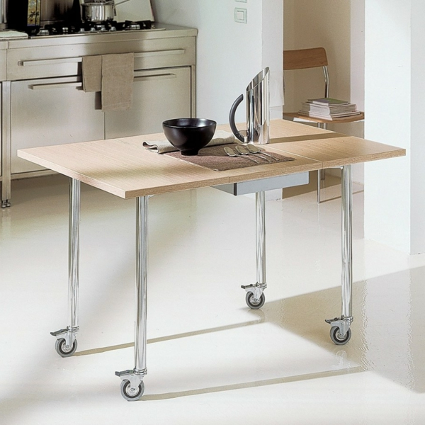 Designs cr atifs de table pliante de cuisine for Table de cuisine escamotable