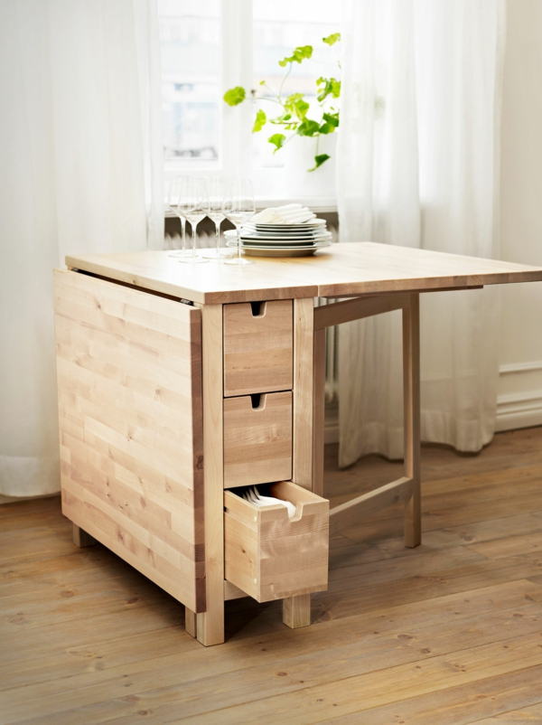 Designs cr atifs de table pliante de cuisine - Table de cuisine bois ...
