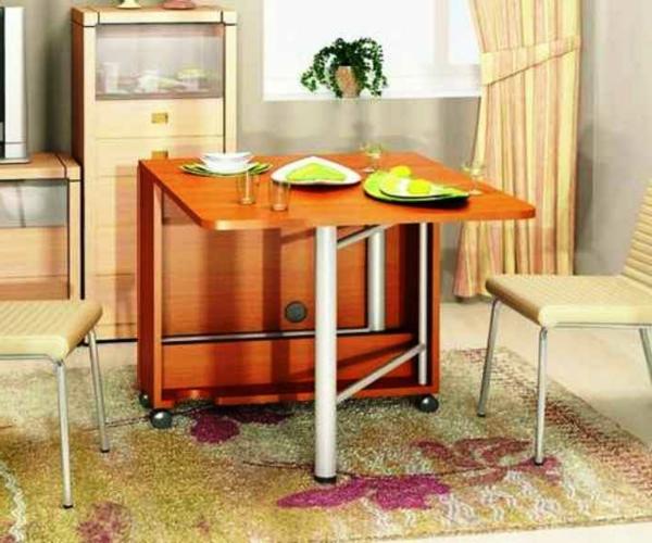 table-pliante-de-cuisine-en-bois-et-acier