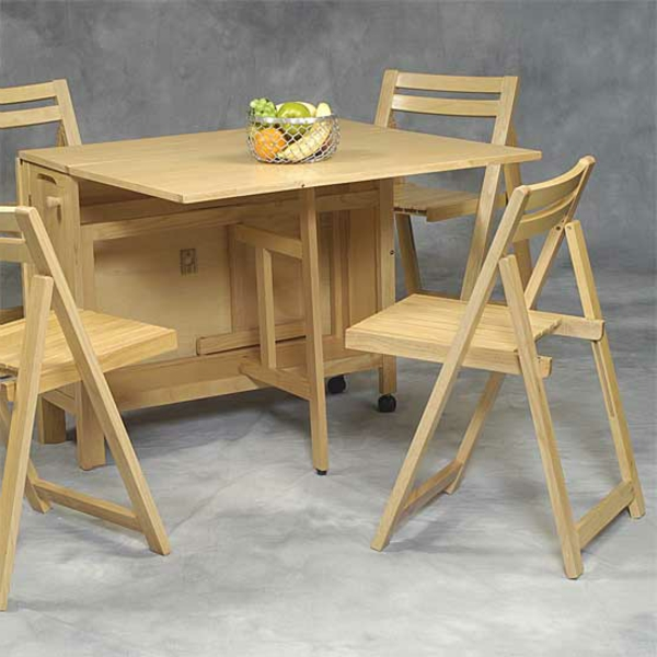 Designs cr atifs de table pliante de cuisine for Table et chaise de cuisine en bois