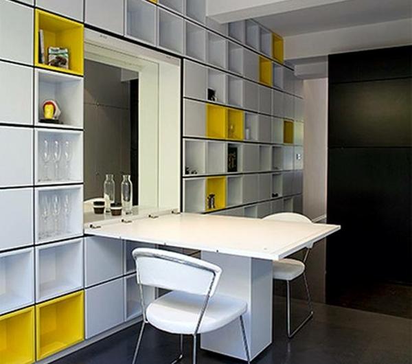 Designs cr atifs de table pliante de cuisine - Rangement mural cuisine ...