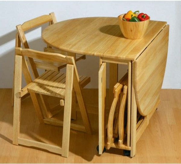 Designs cr atifs de table pliante de cuisine for Petite table en bois