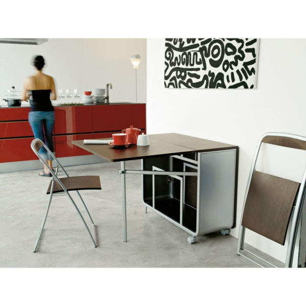 Designs cr atifs de table pliante de cuisine for Table retractable cuisine