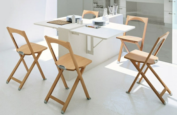 Designs cr atifs de table pliante de cuisine - Comment faire une table pliante ...