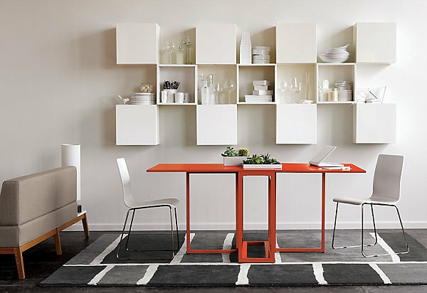 Designs cr atifs de table pliante de cuisine - Table de cuisine rouge ...