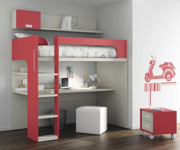 Le lit mezzanine et bureau plus d 39 espace - Lit mezzanine moderne ...