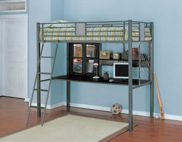 Le lit mezzanine et bureau plus d 39 espace - Lit mezzanine placard ...