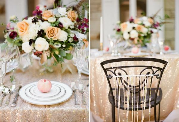 Art Deco styled wedding at Holden Arboretum's Lantern Court.