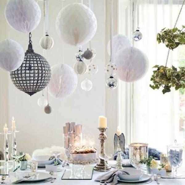 vert-et-blanc-déco-de-table-de-Noël