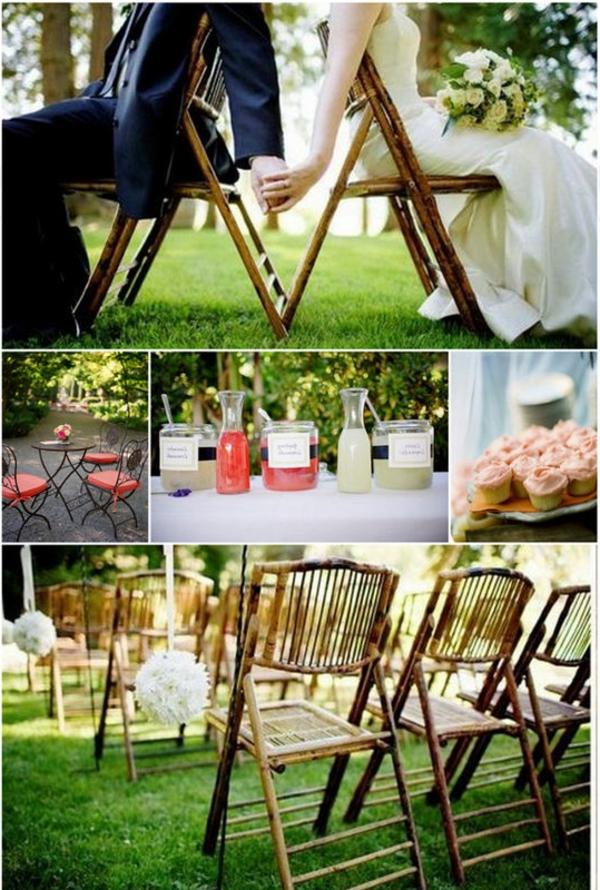 vintage-style-déco-de-mariage-à-l'extérieur