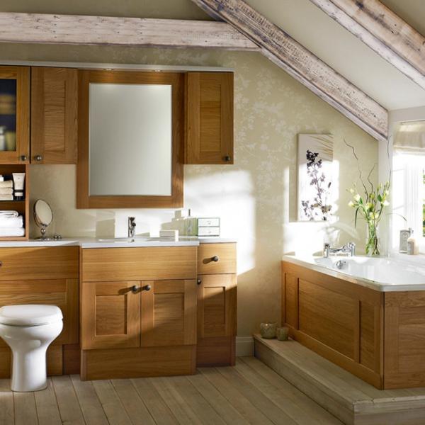la d co de salle de bain en bois 107 photos. Black Bedroom Furniture Sets. Home Design Ideas