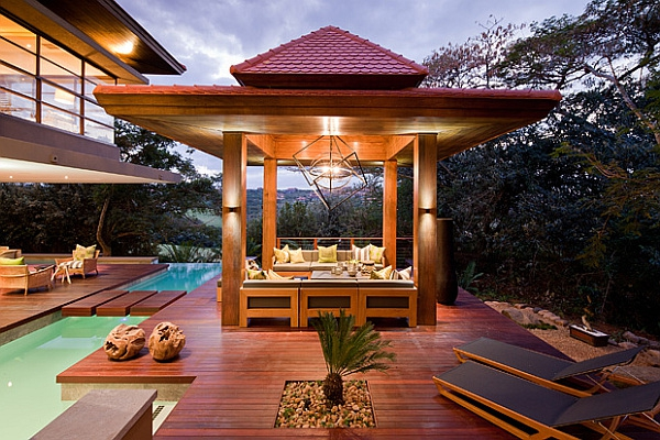 Asian-inspired-outdoor-terrace-with-pool-and-wooden-deck