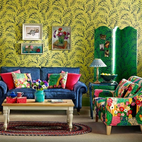 Bohemian-style-living-room-Ideal-Home