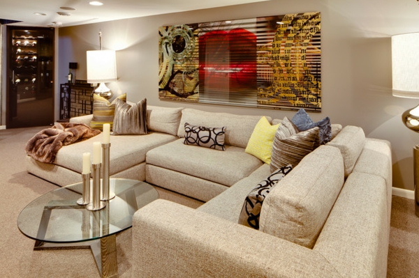 Contemporary-Sectional-Sofas-Ideas-Placed-inside-Cream-Themed-Living-Room-Surprised-by-the-Red-Lips-Poster-on-Wall-resized