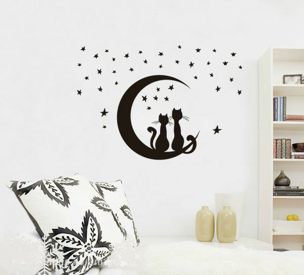 Free-Shipping-Star-Kitty-3D-DIY-Fashion-Removable-bedroom-wall-ideas-Star-Cat-Home-Decration-Wallpaper2-resized