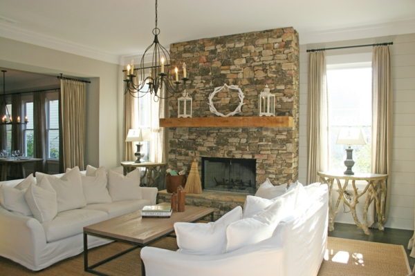 architecture-jolie-chandelier-etdes-canapé-en-blanc-pour-la-décoration
