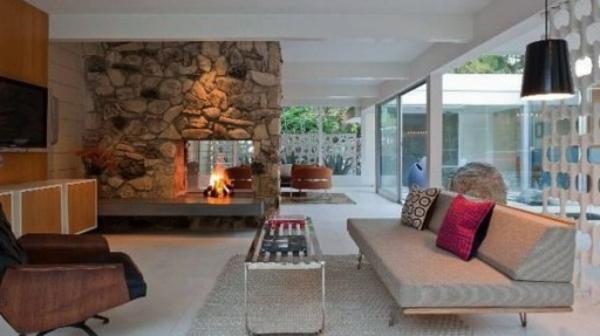 atractive-design-pour-votre-salon-et-un-mur-en-pierre-et-déco-moderne-en-style-scandinave