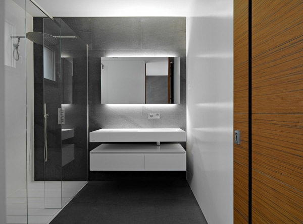 Salle de bain et d co minimaliste 117 photos uniques for Petite salle de bain design noir