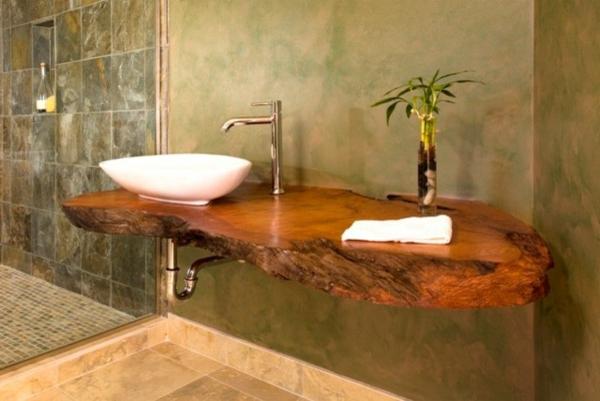 La d co de salle de bain en bois 107 photos for Meuble lavabo salle de bain bois