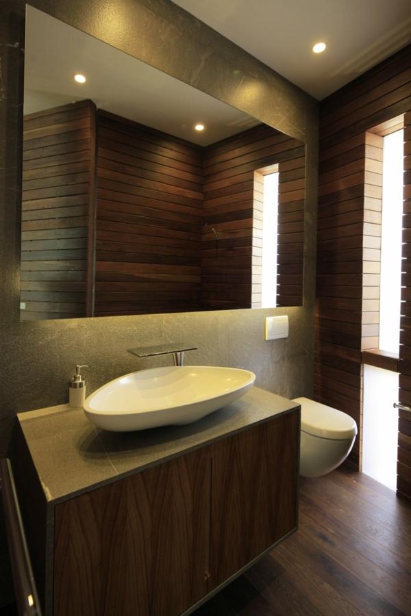 La d co de salle de bain en bois 107 photos - Meuble salle de bain bois fonce ...