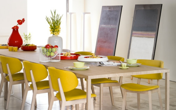 chaise-calligaris-chaises-à-tappiserie-jaune