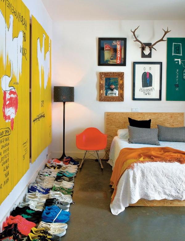 chambre-à-coucher-en-style-bohème